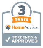 3 Years Screened and Approved on Home Advisor for Four Seasons Insulation